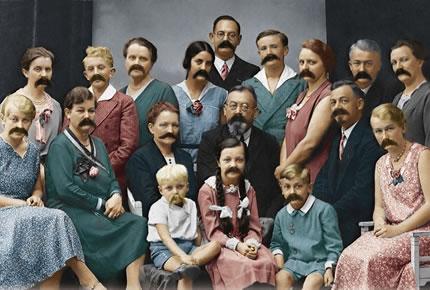 Une curieuse épidémie de moustaches