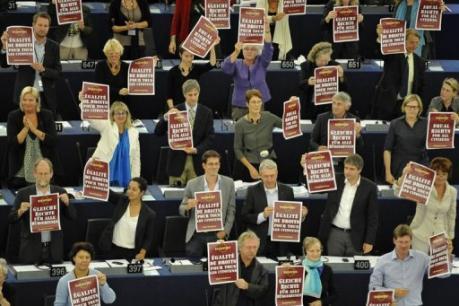 Le Parlement de l'UE, 09/09/10. photo AFP