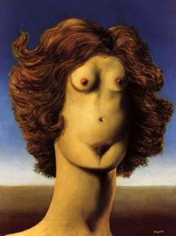 Sous la burqua l'érotisme. Magritte 1934.