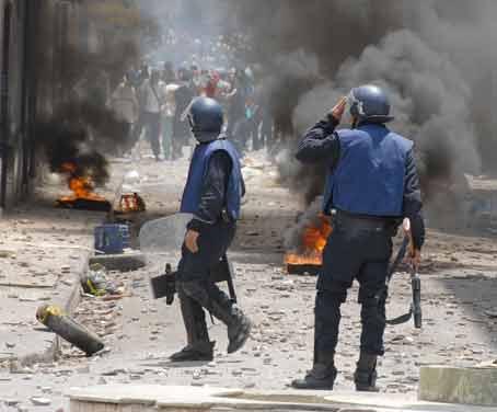 Le peuple algérien dans la rue