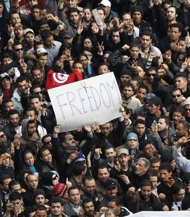 La joie du peuple égyptien.