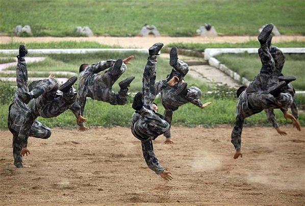 Armée chinoise en excercice. Photo Reuter