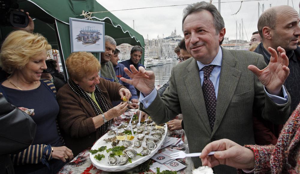 Jean Noel Guerini à Marseille. Reuter Jean-Paul Pelissier.