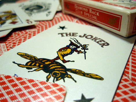 Une carte à jouer du Joker. Photo Myklroventine/Flickr/CC.