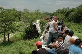 Les trains traversent le Mexique chargés de proies faciles. Photo : Aude Chevalier-Beaumel.