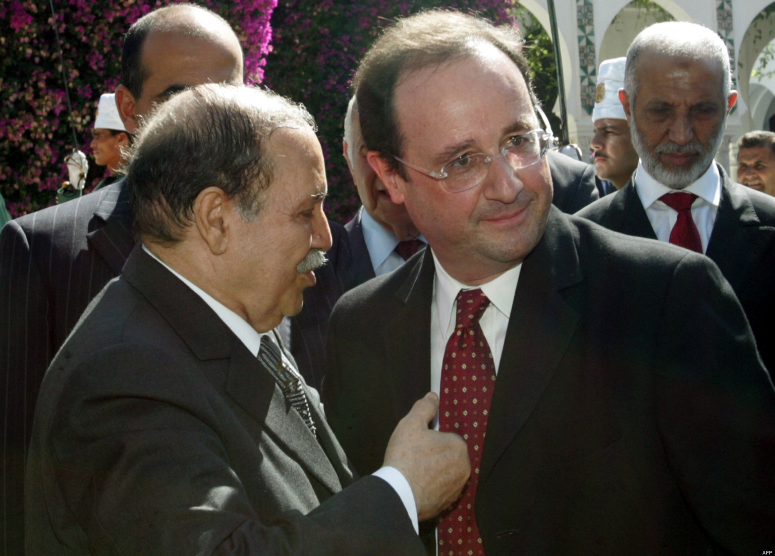 ALGERIA-FRANCE-BOUTEFLIKA-HOLLANDE