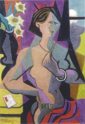 Jean Metzinger, Femme nue à la lettre, 1946