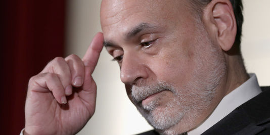 Ben Bernanke president de la Fed avant son remplacement par Janet Yellen