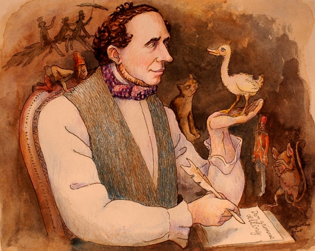 Hans Christian Andersen, dessin de Sergimao (2005). dr