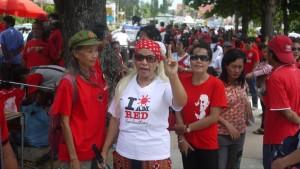 Un rassemblement de Chemises rouges dans la ville de Pattaya, à l'est de Bangkok. Photo RFI Arnaud Dubus