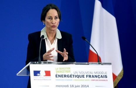 Ségolène Royal lors d'une conférence de presse sur la transition énergétique, le 18 juin 2014 (Stephane de Sakutin AFP)