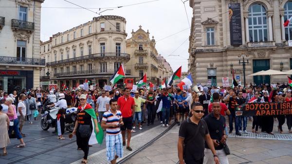 Environ 400 personnes hier se sont rassemblées dans les rues de Montpellier.