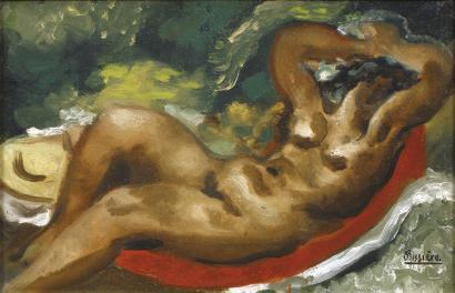 « Nu couché draperie brique », 1926.