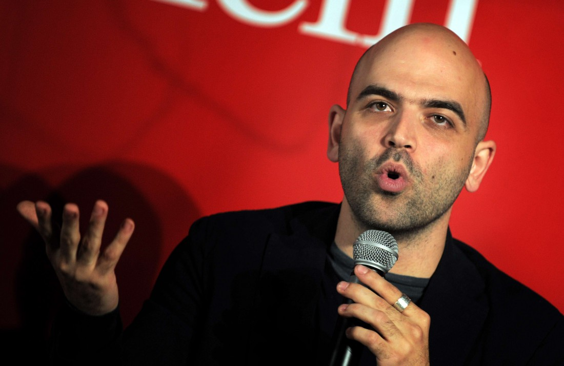 Roberto Saviano 'ZeroZeroZero' book presentation, Naples, Italy - 15 Apr 2013