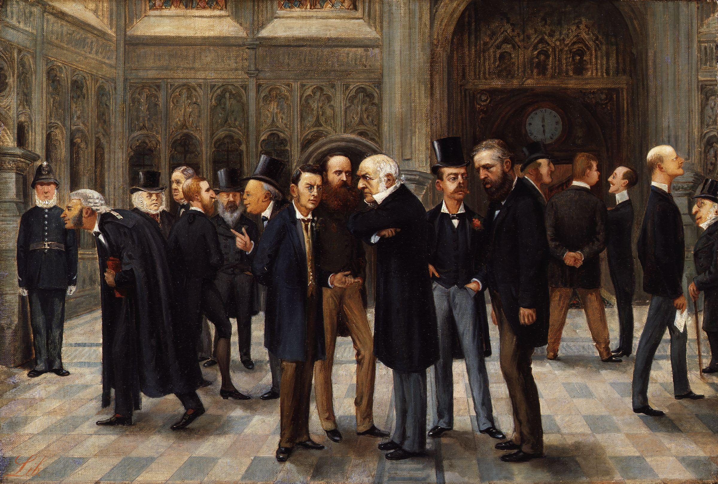 The Lobby of the House of Commons, 1886 by Liborio Prosperi