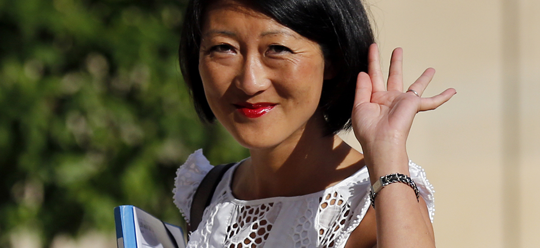 """French Junior Minister of Small Business, Innovation, and Digital Economy Fleur Pellerin arrives at the Elysee Palace to attend the government seminar, """"France in 2025"""" as ministers end their summer holiday break, in Paris"""