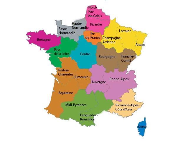 Carte Region13