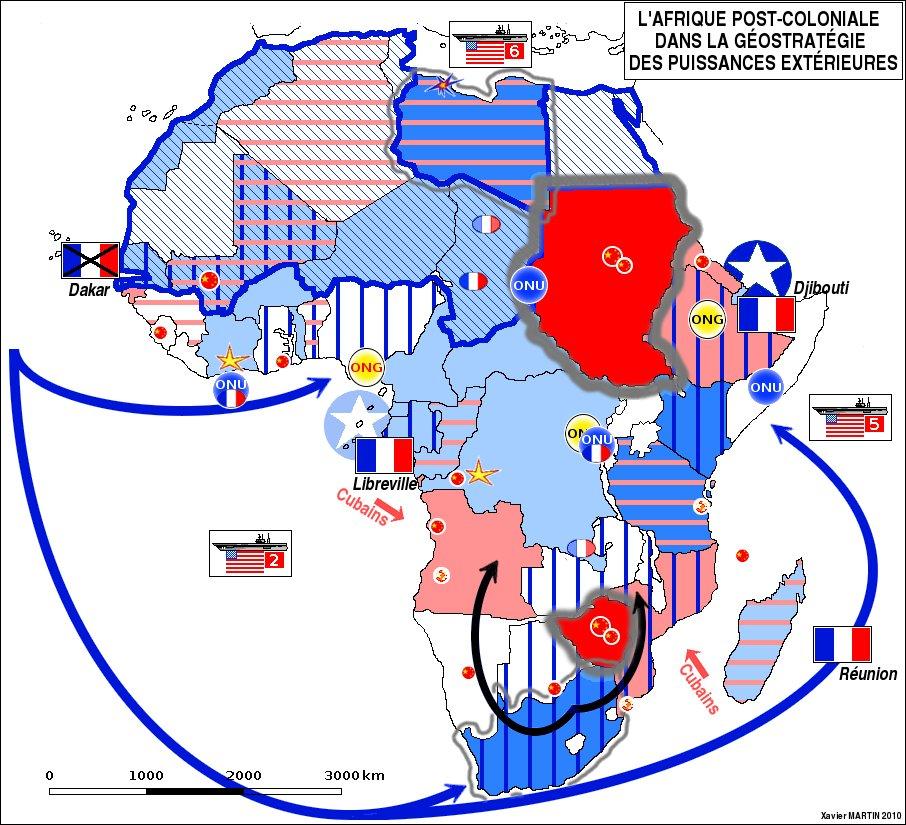 L'Afrique dans la géopolitique mondiale de 1945 à nos jours. source http://www.xaviermartin.fr/index.php?post/2010/12/28/L-Afrique-dans-la-g%C3%A9opolitique-mondiale-de-1945-%C3%A0-nos-jours