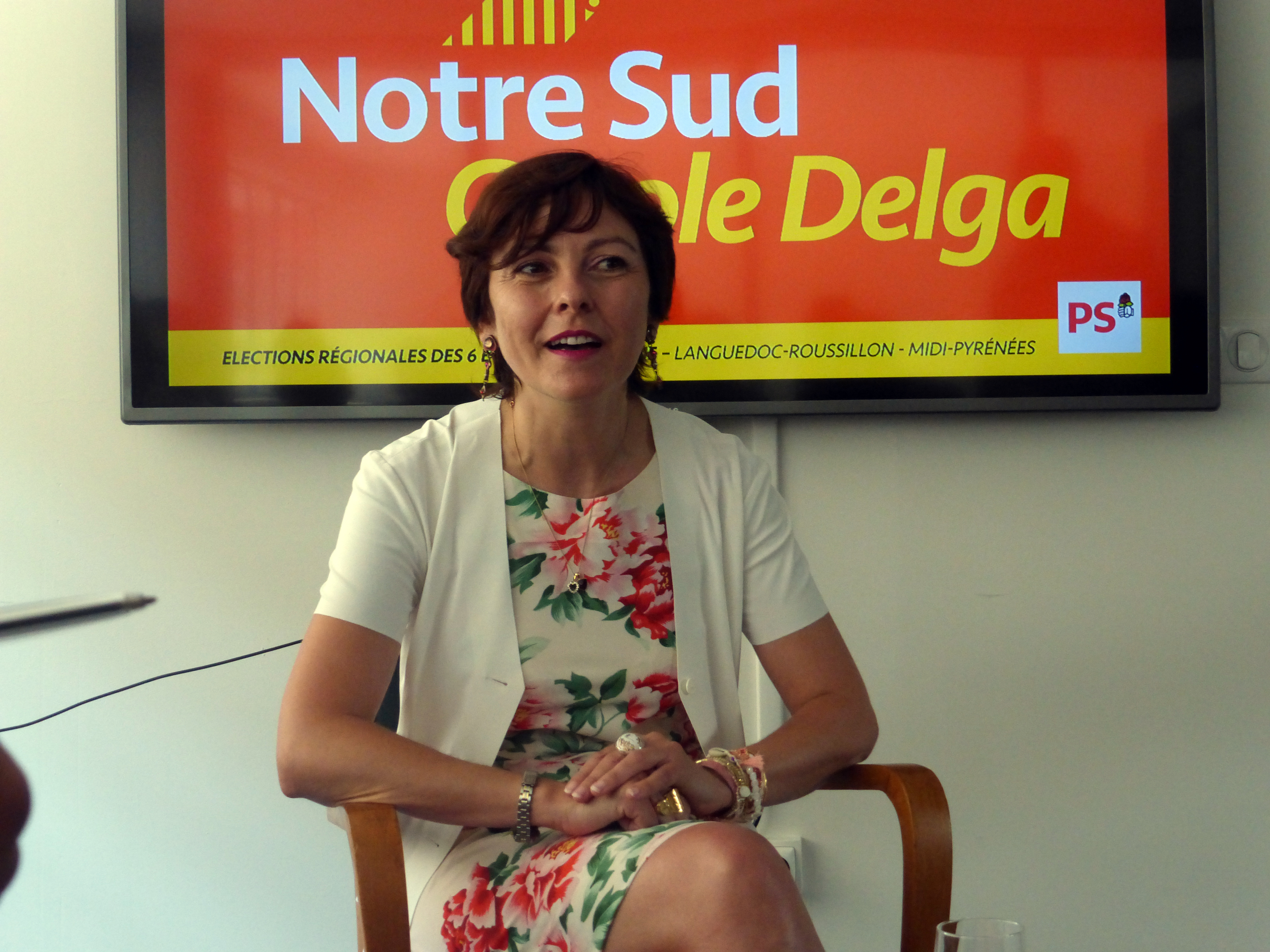 Carole Delga aux militants venus la soutenir « le réseau social de notre Sud c'est vous. » Photo JMDI