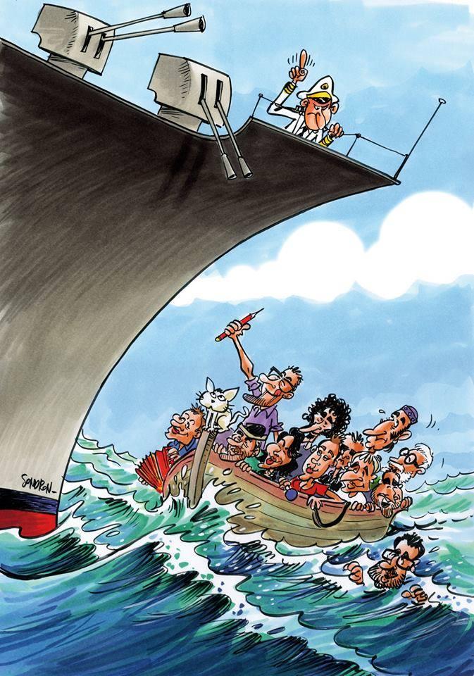 Le dessin réalisé par le dessinateur belge Soudron pour l'affiche du festival