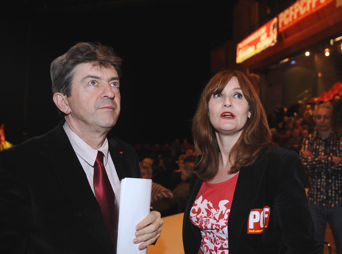 Jean-Luc Mélenchon et Marie-Pierre Vieu, en mars 2011 à Castanet-Tolosan