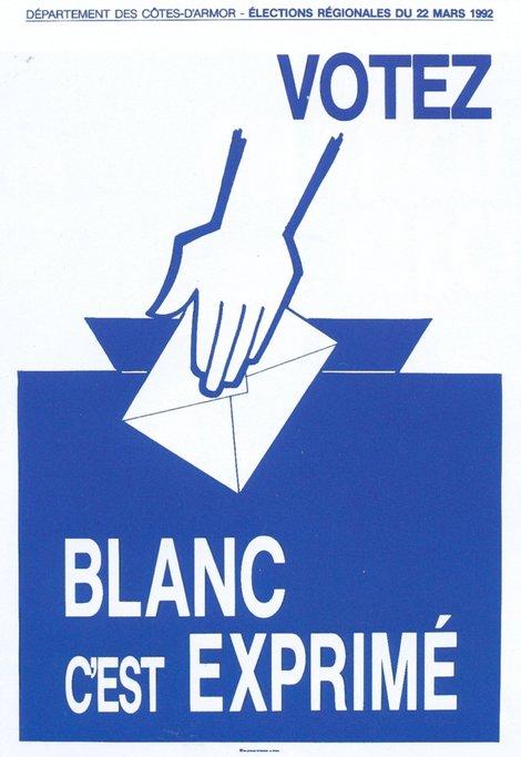1992+Affiche+Gerard+Gautier+Votez+Blanc+c_est+Exprime