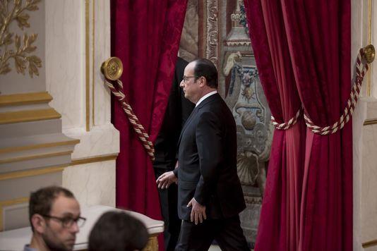 François Hollande le 30 mars à l'Elysée. Vincent Isore IP3 pour Le Monde