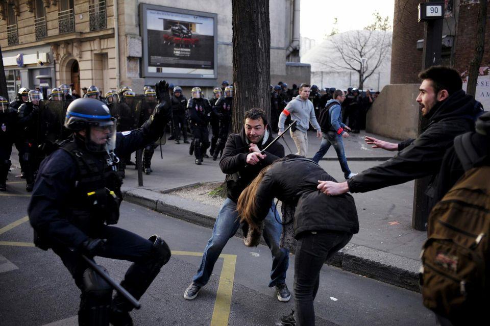 Violence policière à Tolbiac