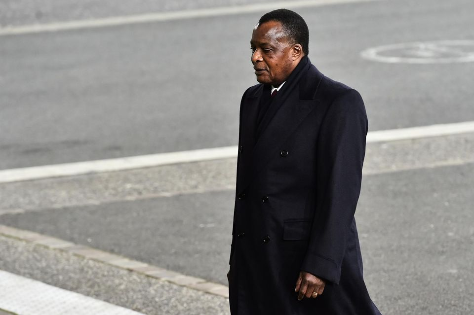 Denis Sassou-Nguesso au Bourget, le 30 novembre pour la COP21. Photo Loïc Venance. AFP