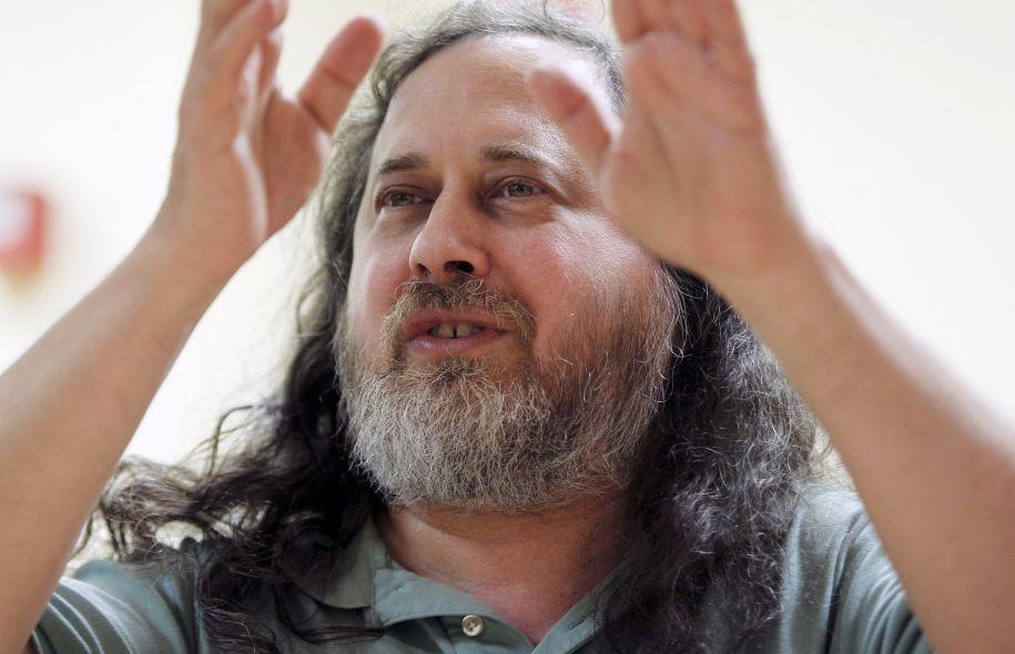 Richard Stallman a lancé le mouvement du logiciel libre.. Photo: François Guilllot AFP