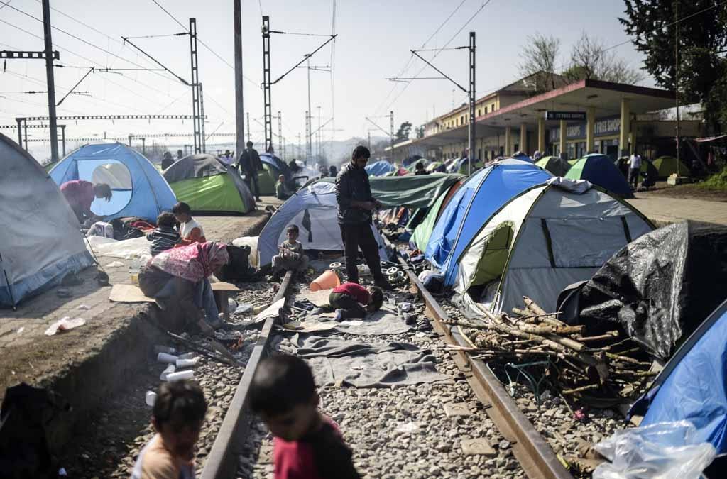 Le camp d'Idomeni, le 1er avril 2016 (AFP / Bulent Kilic)