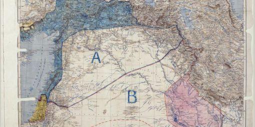 Carte des accords Sykes-Picot (archives britanniques) © AFP