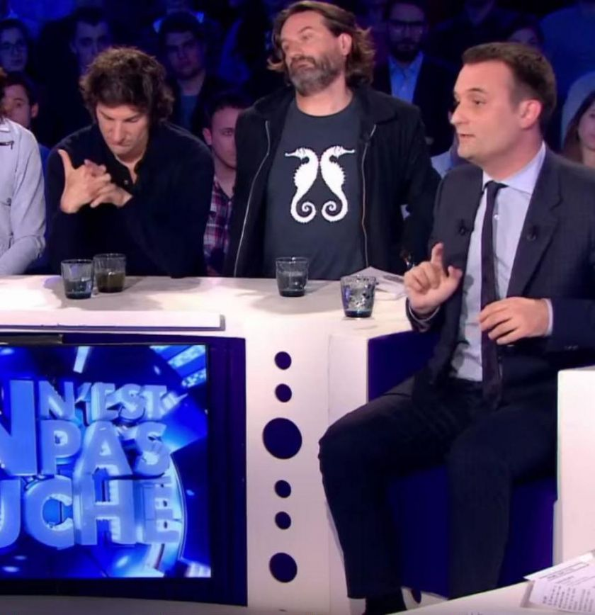 Florian Philippot, ici dans « On n'est pas couché » le 5 juin dernier, est la personnalité politique la plus invitée en 2015, toutes étiquettes confondues.(Document France 2.)