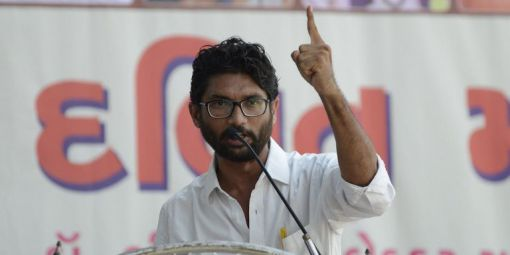 Le leader des dalits, Jignesh Mewani,  septembre 2016. © Sam Panthaky/AFP