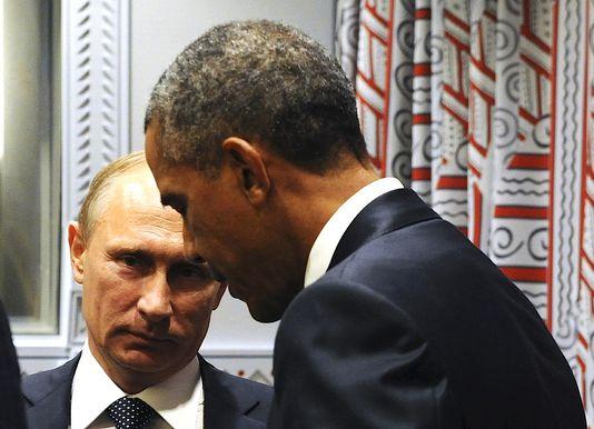 Vladimir Poutine et Barack Obama, le 28 septembre 2015, lors de l'Assemblée générale de l'ONU. Vladimir Poutine et Barack Obama, le 28 septembre 2015, lors de l'Assemblée générale de l'ONU. RIA NOVOSTI / REUTERS