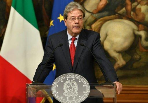 AFP/Archives | Le nouveau chef du gouvernement italien, Paolo Gentiloni, le 16 décembre 2016 à Rome
