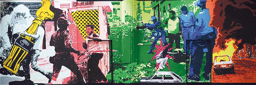 Yaneth Rivas. – « El ejemplo que Caracas dió » (L'Exemple qu'a donné Caracas), 2014 © Yaneth Rivas – Cartel de Caracas
