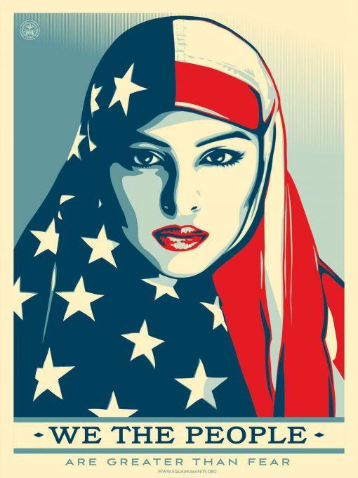 «Nous, le peuple, nous sommes plus forts que la peur» © Shepard Fairey