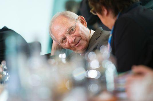 Wolfgang Schauble, ministre des finances allemand, le 12 avril, à Berlin. STEFFI LOOS / AFP