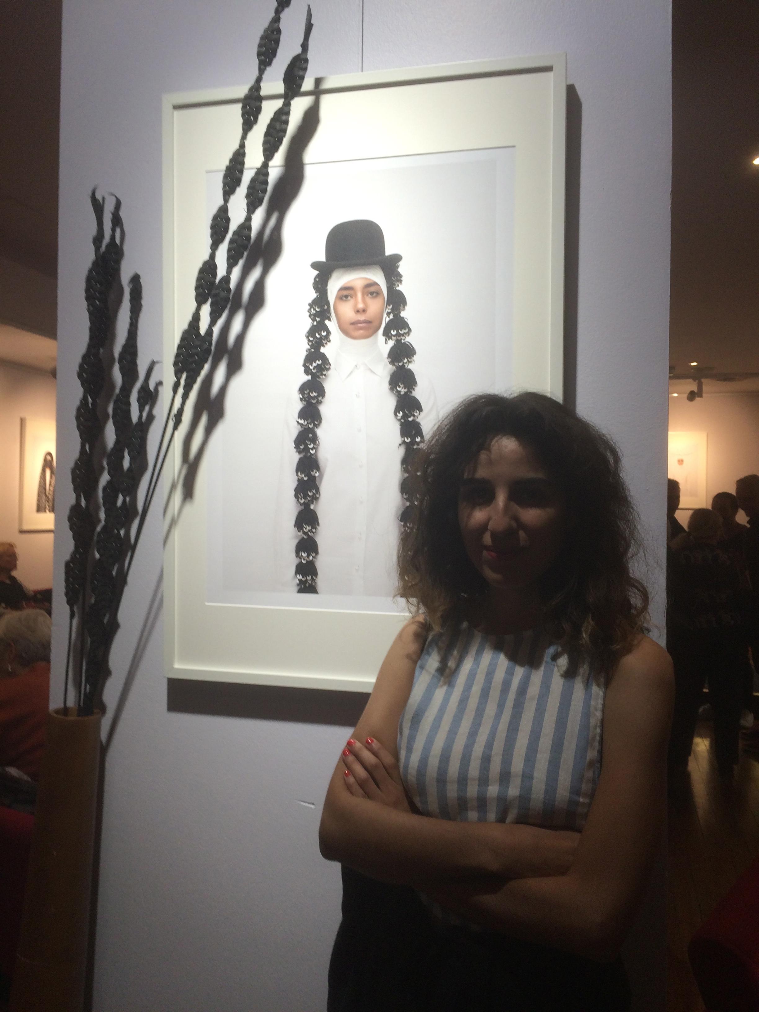 Leila versissage Arabesques 2017 à Montpellier