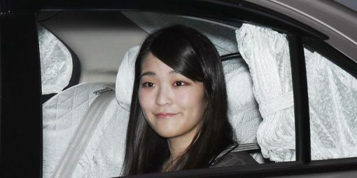 La princesse Mako quitte sa maison à Tokyo le 18 mai 2017 © STR / JIJI PRESS / AFP