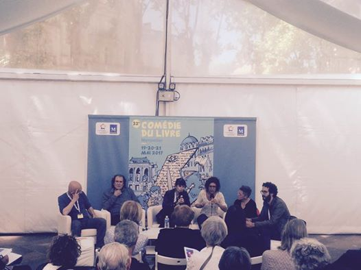 Débat sur le thème des voix invisibles  avec Alfons Cervera, Isabel Alba et Sophie G.Lucas.