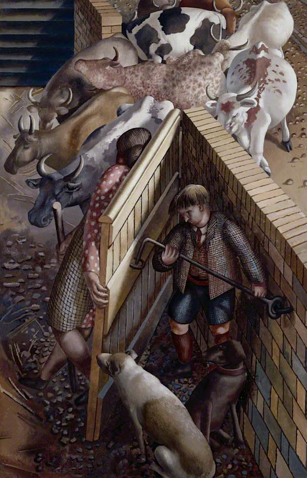 The Farm Gate by Stanley Spencer