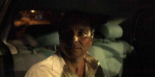 Cesare Battisti lors de sa sortie de prison le 8/06/11. Photo Reuter