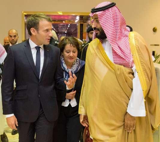 Mohammed Ben Salman, aux côtés d'Emmanuel Macron, à Riyad, le 9 novembre. Mohammed Ben Salman, aux côtés d'Emmanuel Macron, à Riyad, le 9 novembre. BANDAR AL-JALOUD / AFP