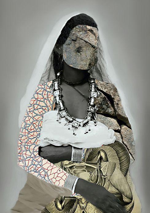 Lola Keyezua - «Stone Orgasms», 2015 (Angola) Cette série pose la question des mutilations génitales et plus largement l'asservissement des femmes. «Née à Luanda, en Angola, Keyezua est diplômée de la Royal Academy of Arts de La Haye. Consciente des attentes performatives de la féminité, Lola Keyezua s'attache à déconstruire les cadres de la beauté, de la féminité, de la sexualité. Briser les codes attendus des cultures africaines, rompre les silences à l'égard de l'Art Africain et développer une nouvelle vision de l'Afrique, font partie de ses propositions artistiques», précise Afriscope/Africultures sur Facebook. © Lola Keyezua