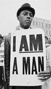 Manifestant en deuil au King Memorial Service,  Memphis,  1968, Bon Adelman