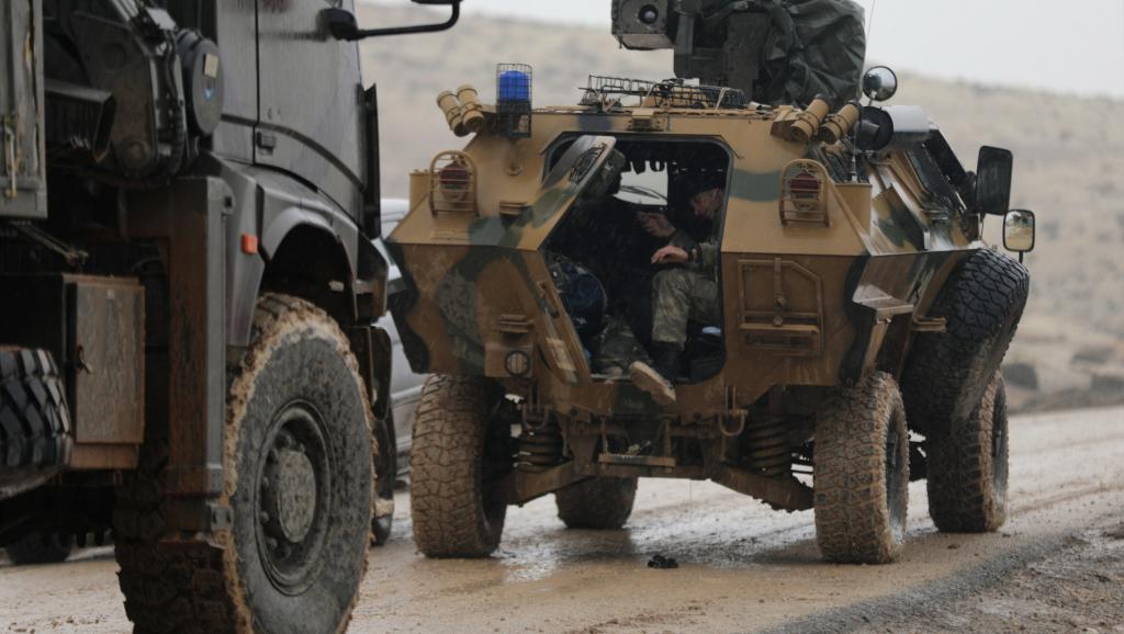 REUTERS/Khalil Forces armées turques au nord-est d'Afrine, Syrie, le 23 janvier 2018. REUTERS/ Khalil Ashawi