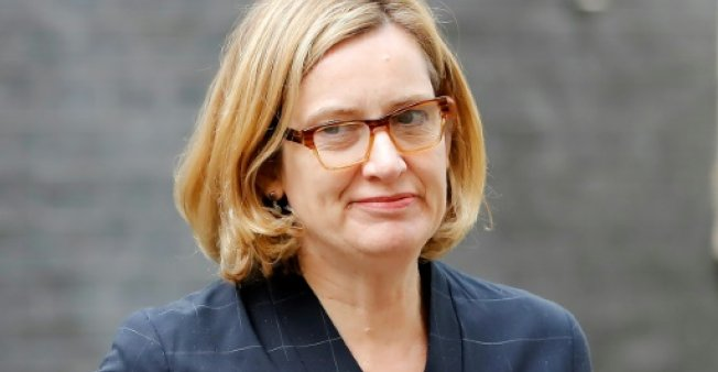 © AFP/Archives / Par Florence BIEDERMANN | Amber Rudd le 25 avril 2018 à 10 Downing Street, à Londres