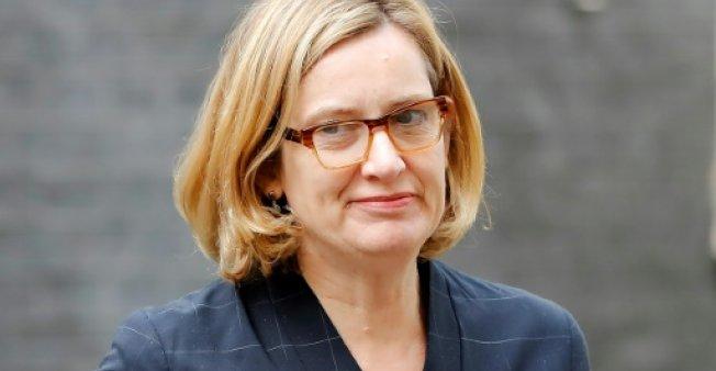 © AFP/Archives / Par Florence BIEDERMANN | Amber Rudd le 25 avril 2018 à 10 Downing Street, à Londres